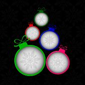 Christmas tree by balls banner