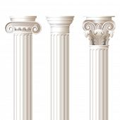 stock photo of ionic  - 3 columns in different styles  - JPG