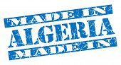 Постер, плакат: Made In Algeria Grunge Blue Stamp