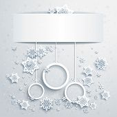 Christmas background with abstract balls with place for text