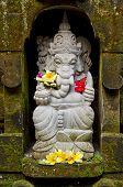image of ganesh  - ganesh hindu god stone statue in bali indonesia - JPG