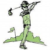 An image of a golf player.