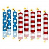 An image of 3d flag firecrackers.