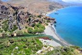 Fantastic View Of Preveli Beach