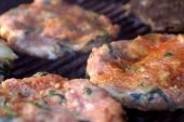 Raw Chicken Florentine Hamburgers