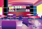 Interior of a modern bar (vector illustration)