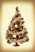 decorated Christmas tree retro