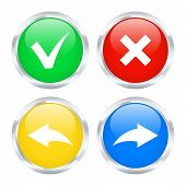Set Of Undo And Redo Buttons. Vector Illustration