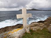 Cross Tribute To Sailors Lost At Sea In Galicia.