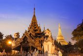 stock photo of yangon  - The Shwedagon is The Most Important pagoda and stupa in Yangon  - JPG
