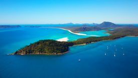 picture of inlet  - Aerial view of Hill Inlet and Whitehaven Beach on Whitsunday Island - JPG
