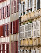 stock photo of basque country  - Building facade in Bayonne - JPG
