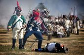 French Soldier Attacking Enemy Soldier During Representation Of The Battle Of Bailen, Bailén  Jaén P