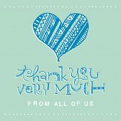 Hand Lettering Thank You Card