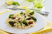 Pasta with broccoli and dried tomatoes