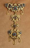 Antique jewel from goldsmith's old tradition of Piana degli Albanesi, Sicily