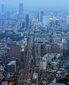 Industrial View Of Tokyo With Busy Roads And  Skyscrapers