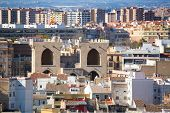 Valencia aerial skyline from el Miguelete Torres de Quart of Spain