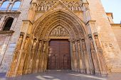 pic of apostolic  - Valencia Cathedral Apostoles door where Tribunal de las Aguas traditional court meets in Spain - JPG