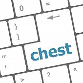 Chest Word On Keyboard Key, Notebook Computer Button