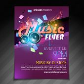 vector music flyer brochure poster template design