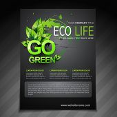 vector eco flyer brochure poster template and magazine cover