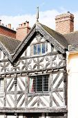 stock photo of west midlands  - half timbered house - JPG