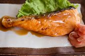 Salmon Fried With Japanese Sauce