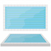 Vector Pool Illustration Isolated On White Background