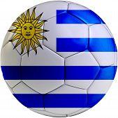 Soccer Ball With Uruguayan Flag