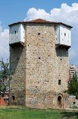 stock photo of octagon  - Octagonal Watchtower of ottoman fortress in Novi Pazar - JPG