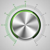 detailed illustration of a metallic volume knob, eps10 vector