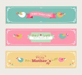 Vintage Happy Mothers Day Banners Set