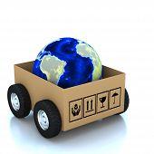 3D Globe In Cardboard Boxes