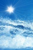Wave Splashing Background