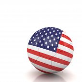 Usa Soccer Ball Isolated White Background