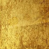 picture of rusty-spotted  - Rusty metal sheet with spots of coffee or tea - JPG