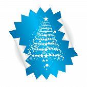 Постер, плакат: Рождественская елка stiker