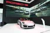 Nonthaburi - March 25: Porsche 911 Turbo S Car On Display At The 35Th Bangkok International Motor Sh