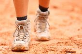 stock photo of legs feet  - Hiking shoes  - JPG