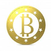 stock photo of peer  - Isolated bitcoin image with hi - JPG