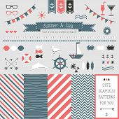 Set of elements for design. Sea and summer