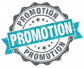 Promotion Blue Grunge Retro Style Isolated Seal