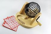 Bingo Cage And Cards