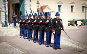 MONACO - MARCH 23,2014: The military force performing the Change of Guard, March 23, 2014 in Monaco.