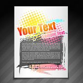 vector modern brochure flyer poster template design