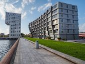 Apartment buildings in the modern city centre of Almere, The Ne