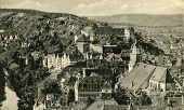 TUBINGEN, GERMANY, CIRCA 1939: Vintage photo of traditional university town in central Baden-W�?�¼rttemberg