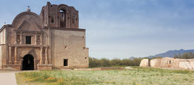 stock photo of pima  - An Old Mission Tumacacori National Historical Park Arizona