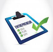 Entrepreneur Check List Illustration Design